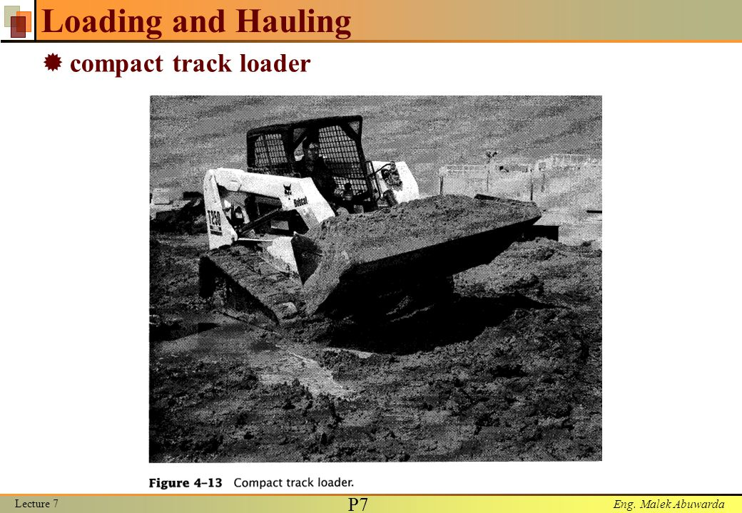 Loading and Hauling compact track loader Lecture 7