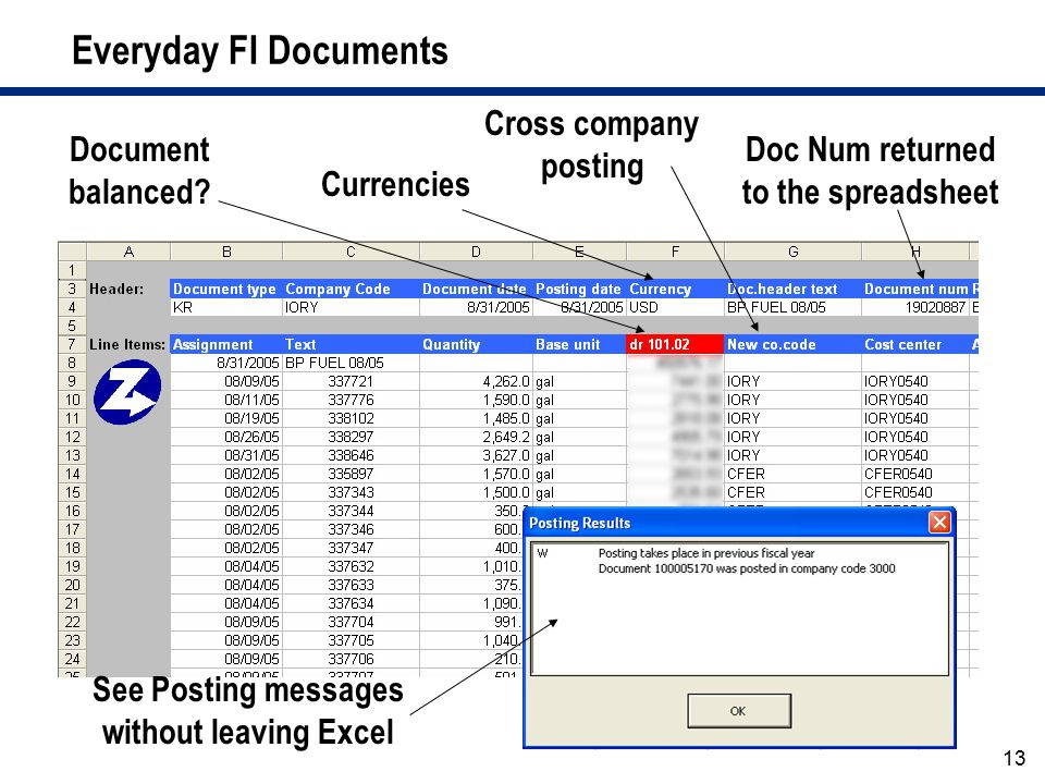 Everyday FI Documents Cross company posting Document balanced