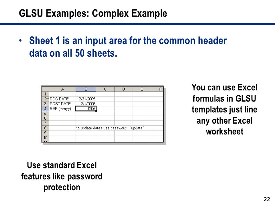 GLSU Examples: Complex Example