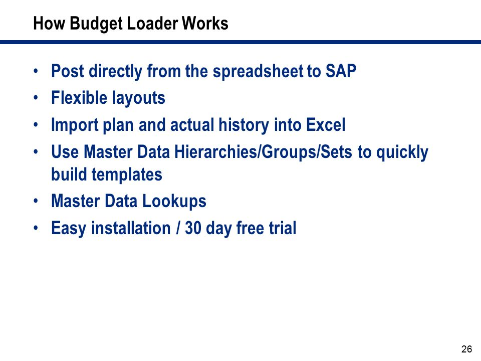 How Budget Loader Works