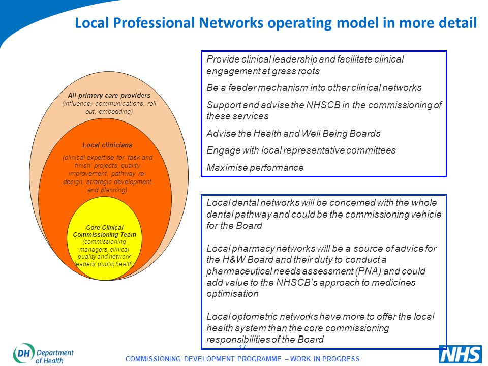 Local Professional Networks operating model in more detail