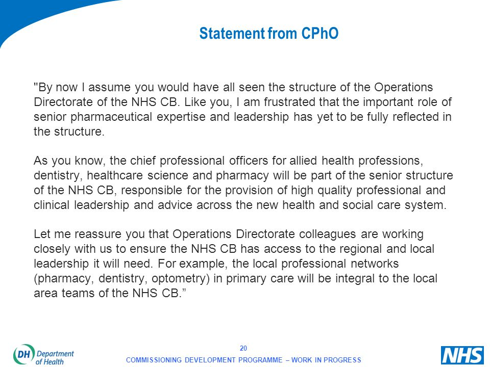 Statement from CPhO
