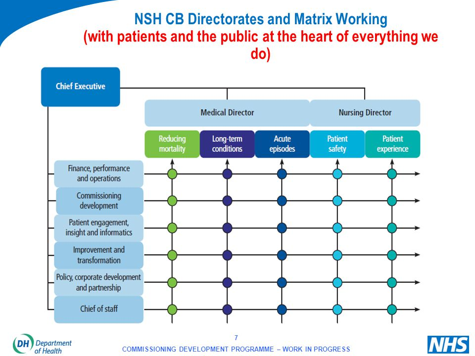 NSH CB Directorates and Matrix Working (with patients and the public at the heart of everything we do)