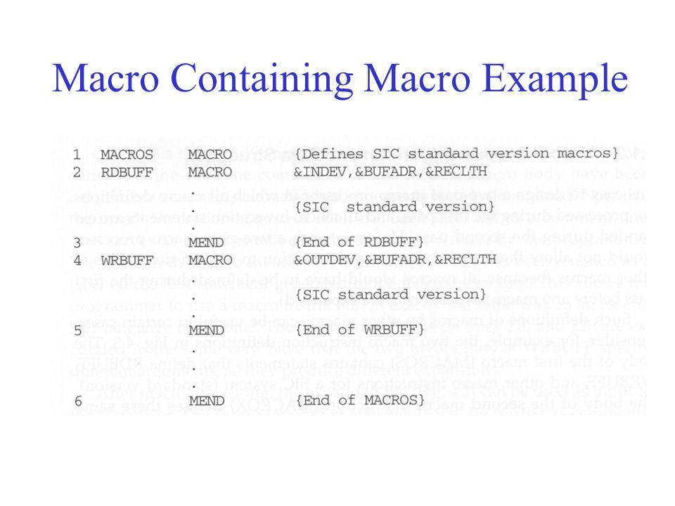 Macro Containing Macro Example