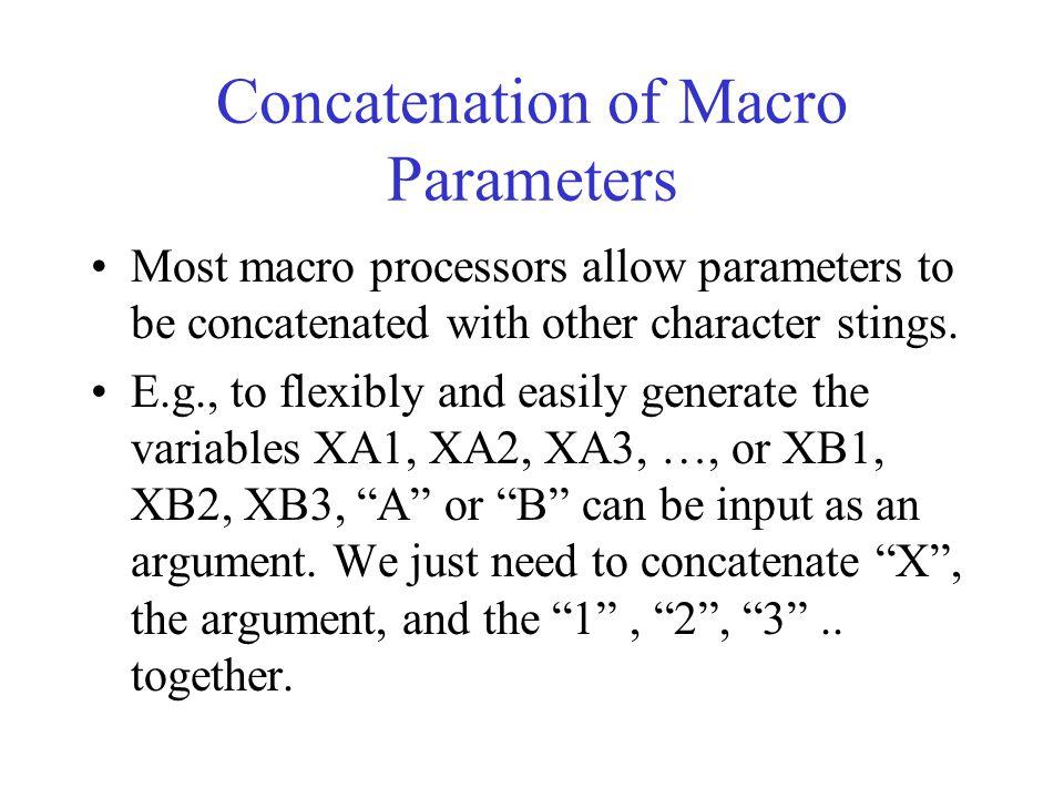 Concatenation of Macro Parameters