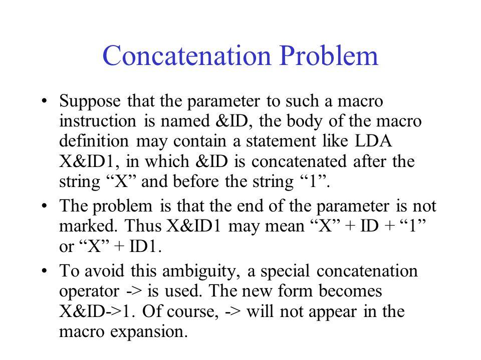 Concatenation Problem