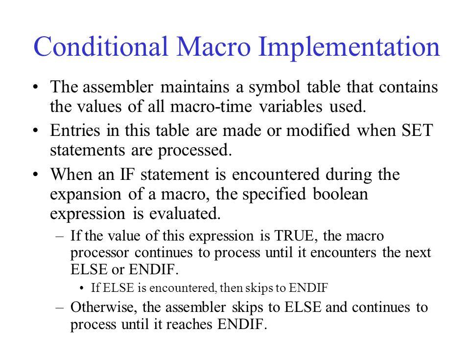 Conditional Macro Implementation