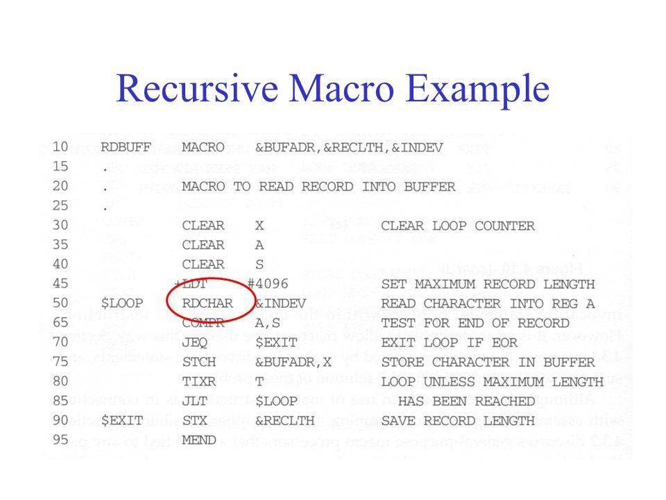 Recursive Macro Example