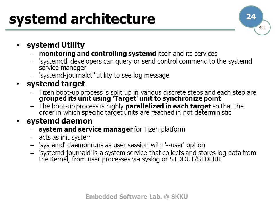 systemd architecture systemd Utility systemd target systemd daemon