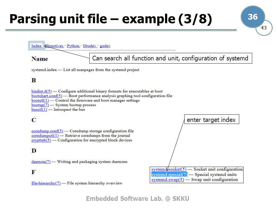 Parsing unit file – example (3/8)