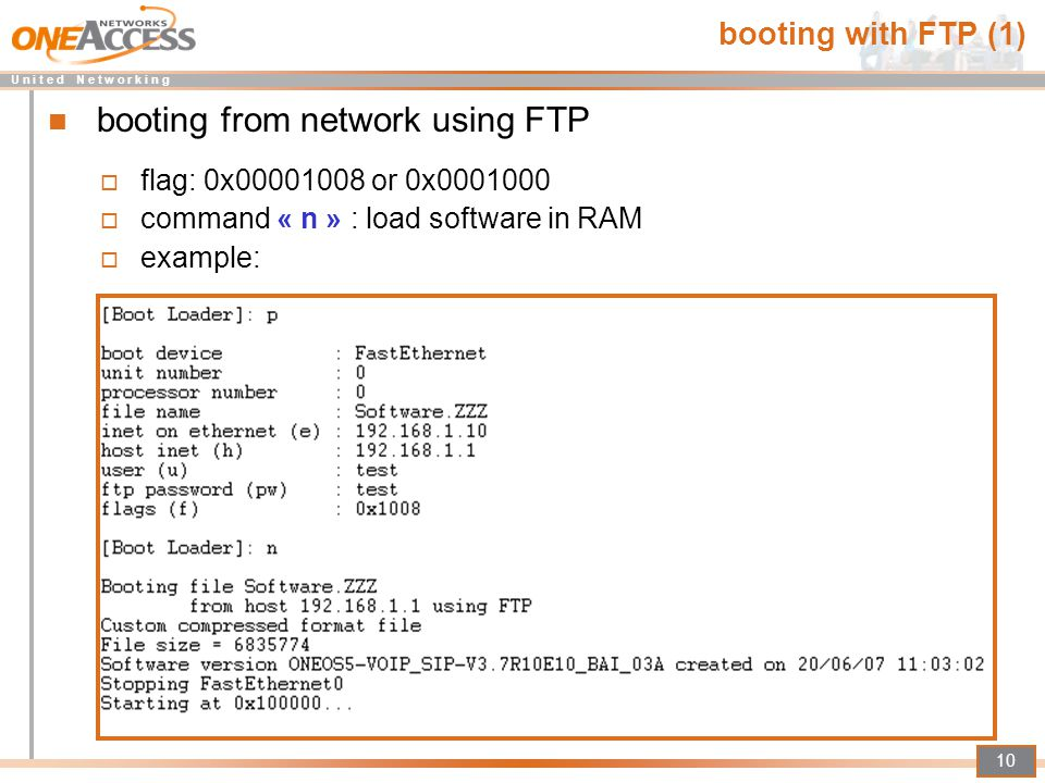 booting from network using FTP