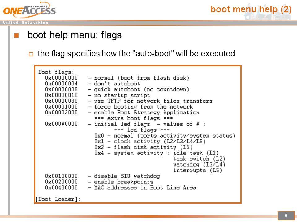 boot help menu: flags boot menu help (2)