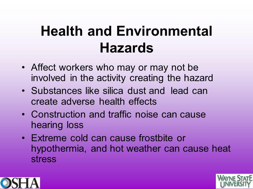 Health and Environmental Hazards