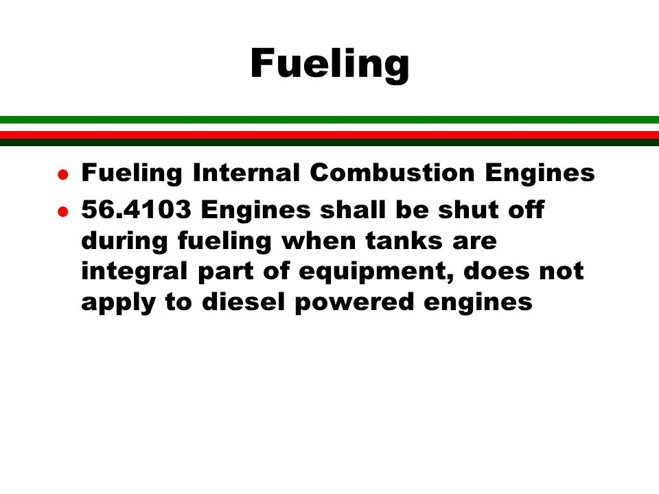 Fueling Fueling Internal Combustion Engines