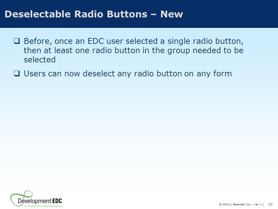 Deselectable Radio Buttons – New