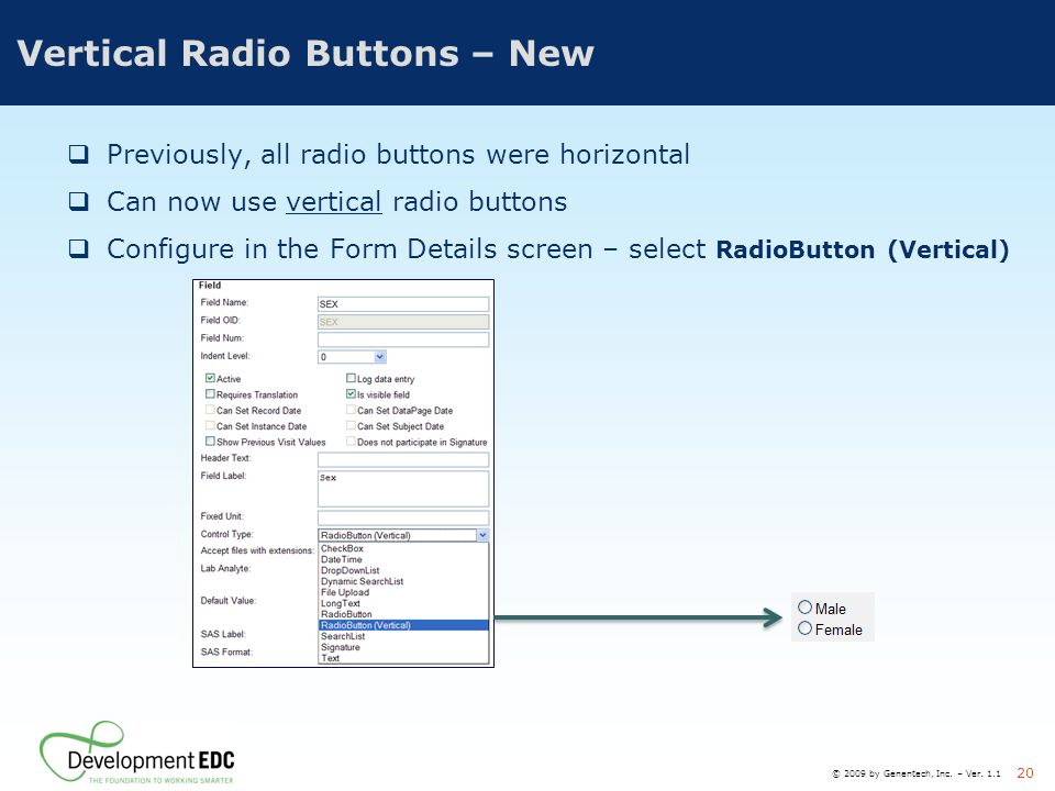 Vertical Radio Buttons – New