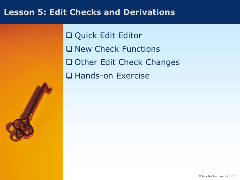 Lesson 5: Edit Checks and Derivations