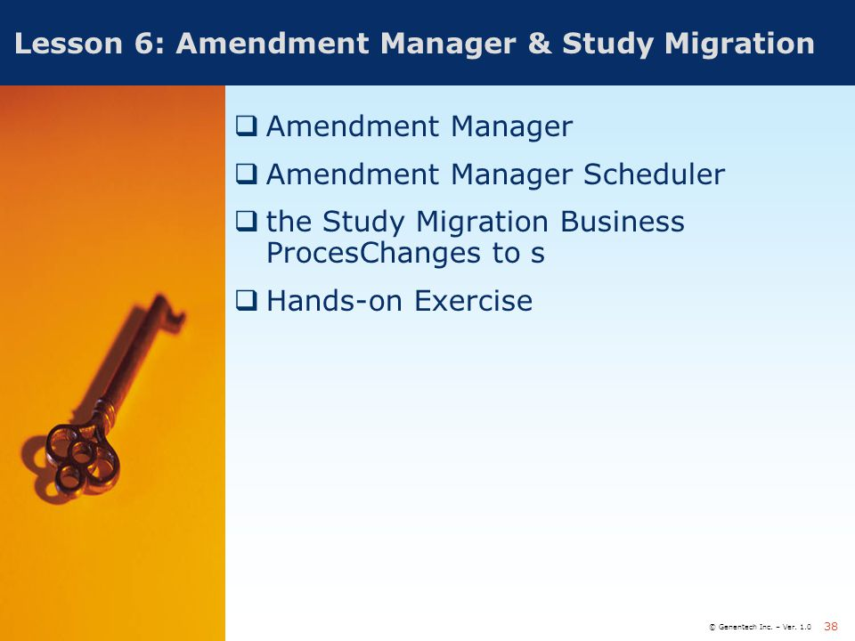 Lesson 6: Amendment Manager & Study Migration