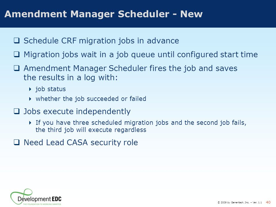 Amendment Manager Scheduler - New