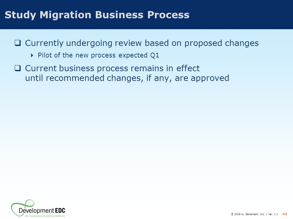 Study Migration Business Process
