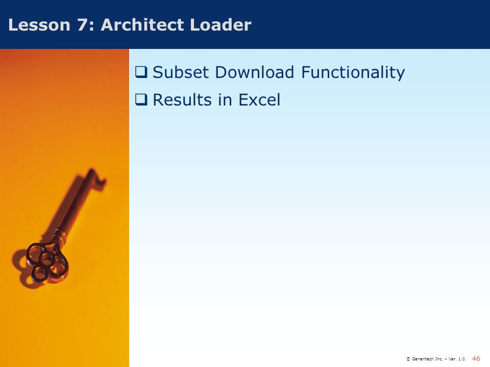 Lesson 7: Architect Loader