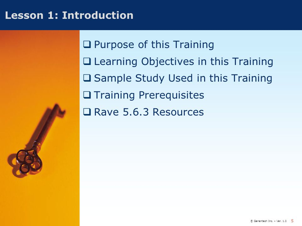 Purpose of this Training Learning Objectives in this Training