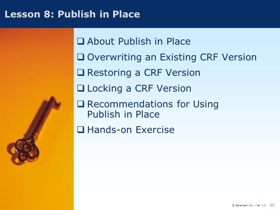 Lesson 8: Publish in Place