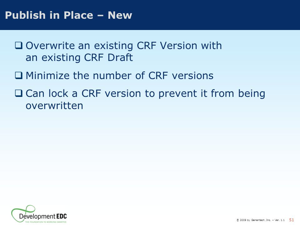 Overwrite an existing CRF Version with an existing CRF Draft