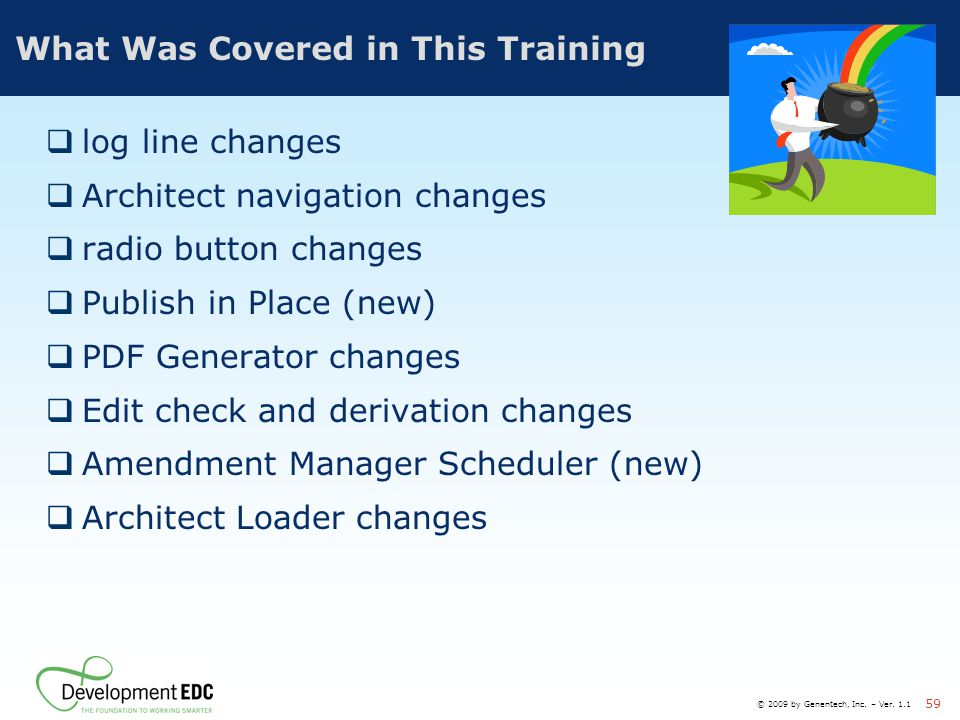 What Was Covered in This Training