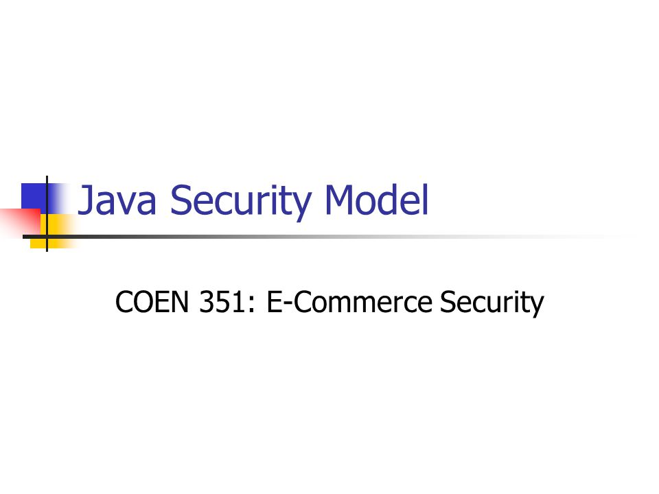 COEN 351: E-Commerce Security