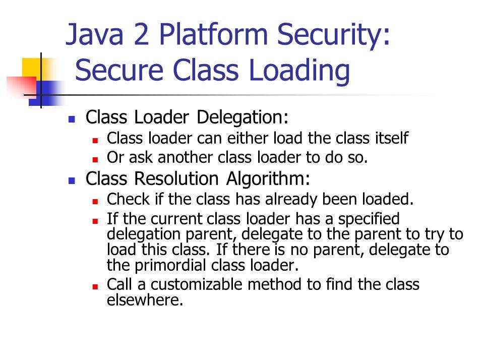 Java 2 Platform Security: Secure Class Loading