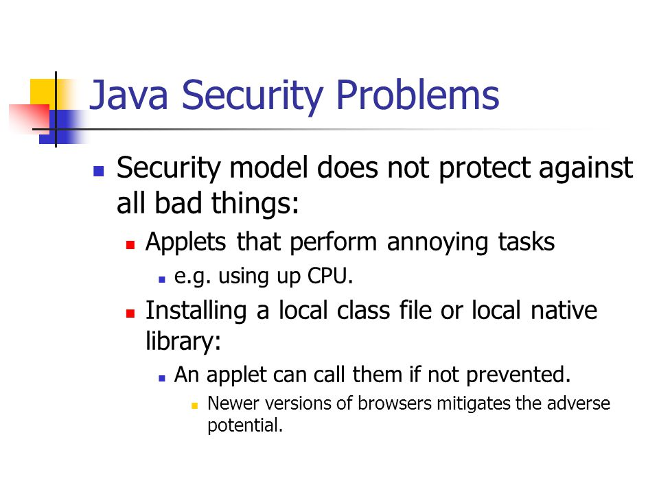 Java Security Problems