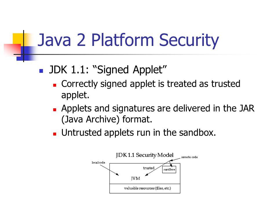 Java 2 Platform Security