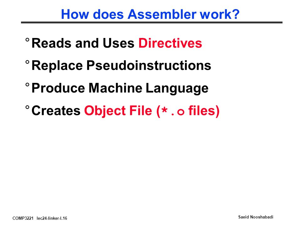 How does Assembler work