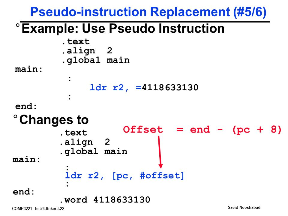 Pseudo-instruction Replacement (#5/6)
