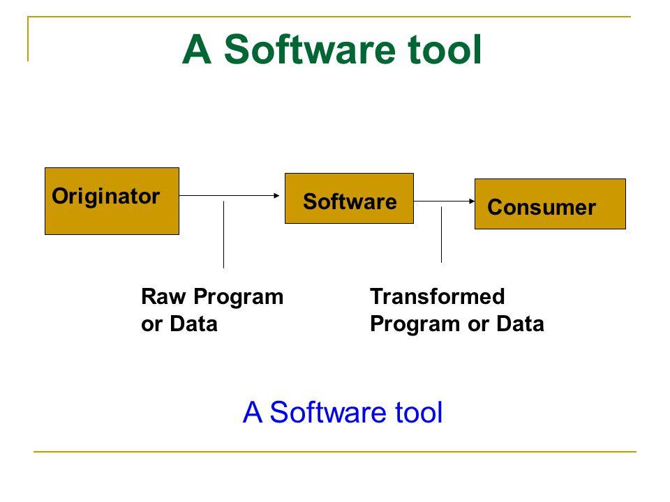 A Software tool A Software tool Originator Software Consumer