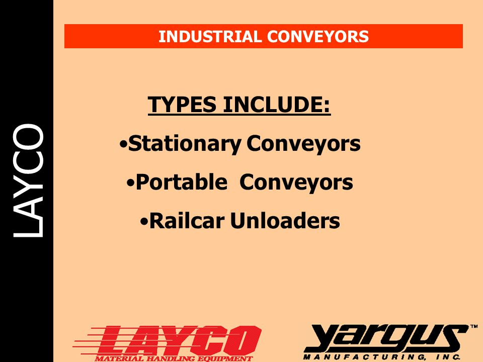 Stationary Conveyors Portable Conveyors Railcar Unloaders