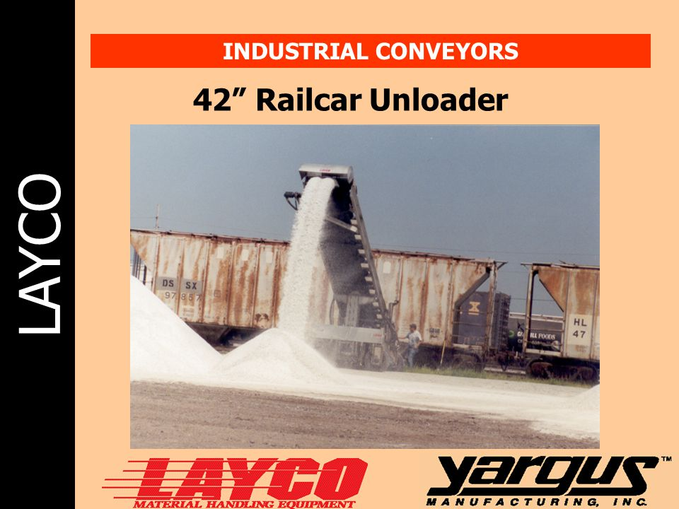 INDUSTRIAL CONVEYORS 42 Railcar Unloader