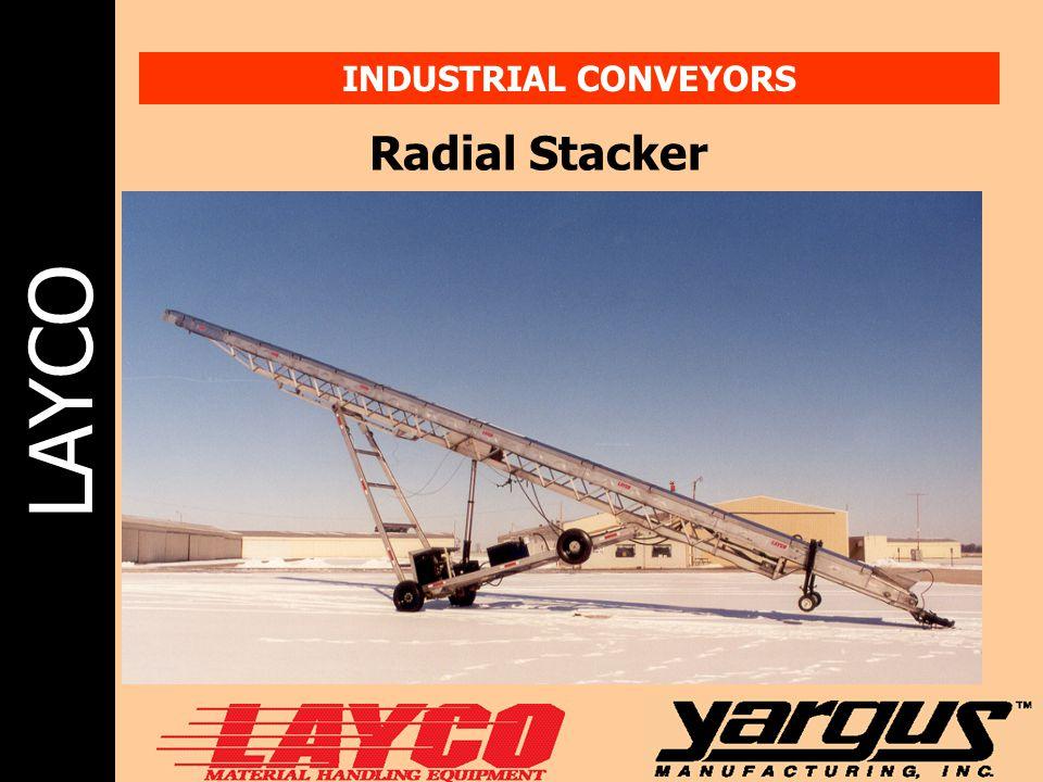 INDUSTRIAL CONVEYORS Radial Stacker
