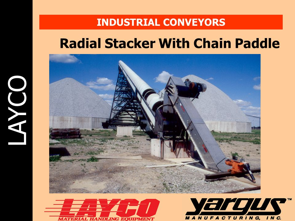 Radial Stacker With Chain Paddle