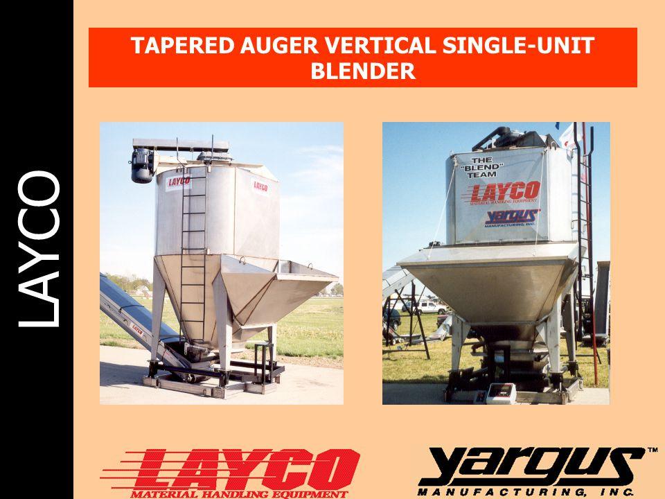 TAPERED AUGER VERTICAL SINGLE-UNIT BLENDER