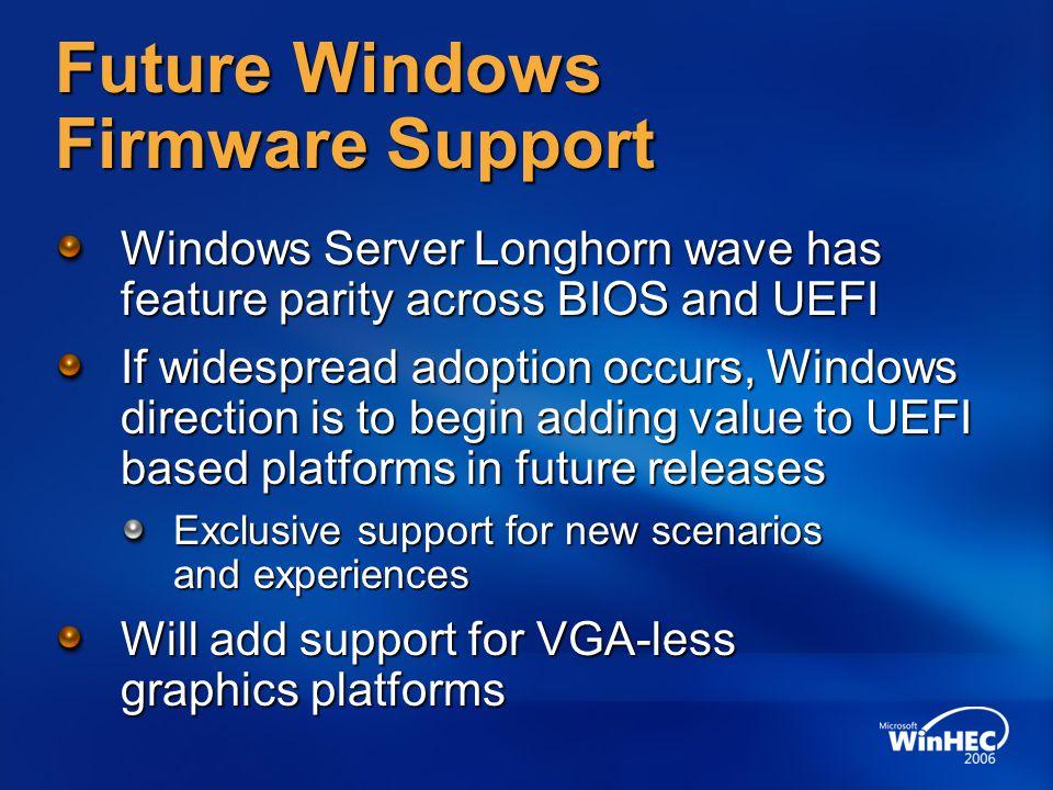 Future Windows Firmware Support