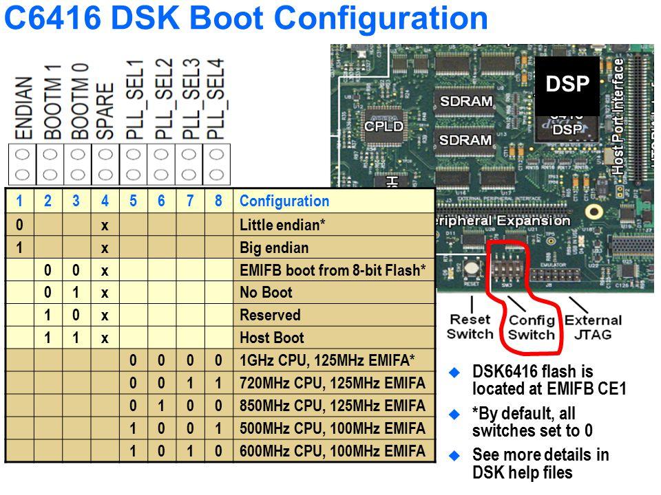 C6416 DSK Boot Configuration
