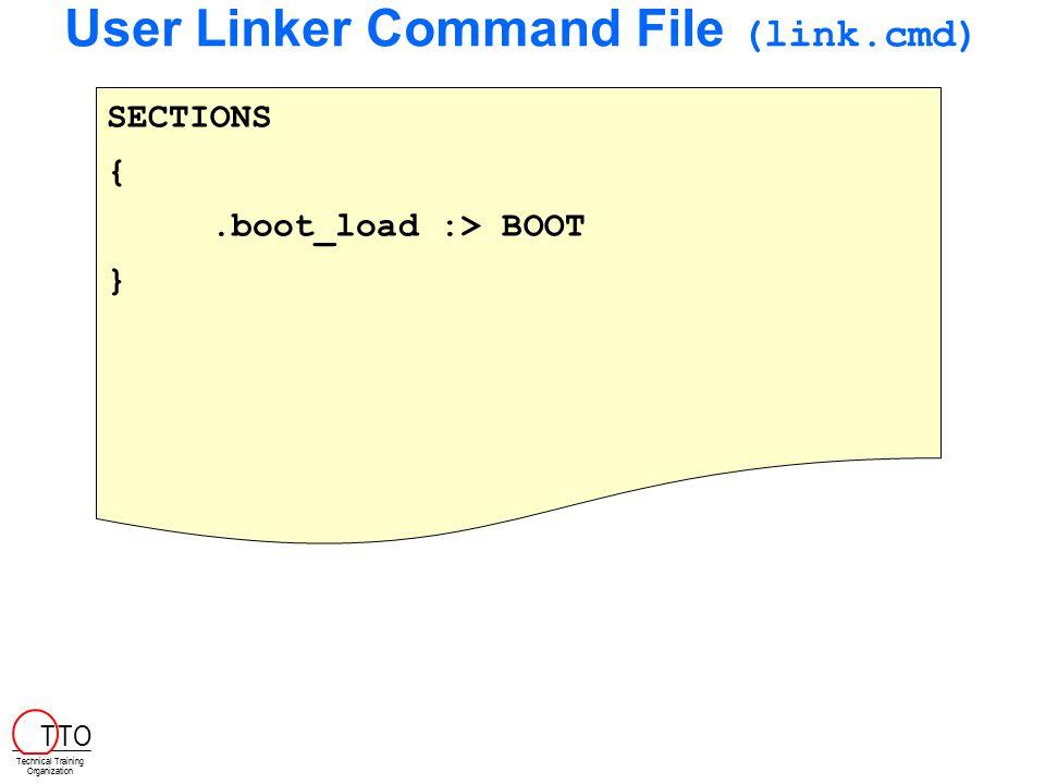 User Linker Command File (link.cmd)
