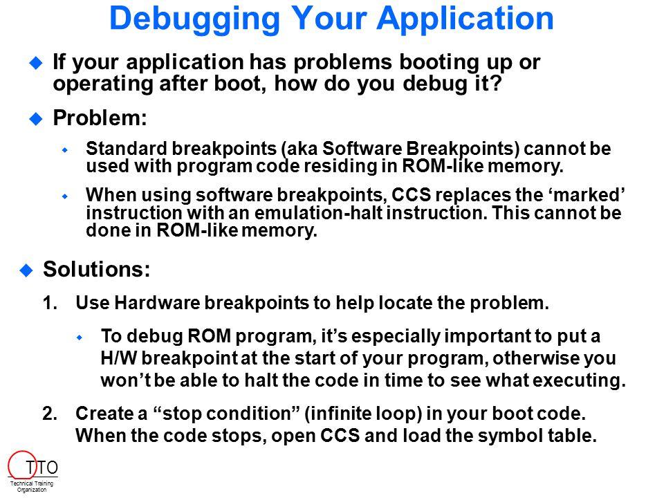 Debugging Your Application