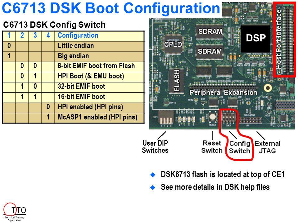 C6713 DSK Boot Configuration