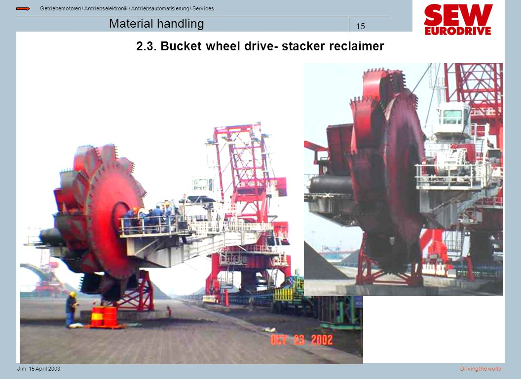 2.3. Bucket wheel drive- stacker reclaimer