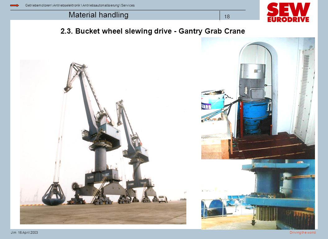2.3. Bucket wheel slewing drive - Gantry Grab Crane