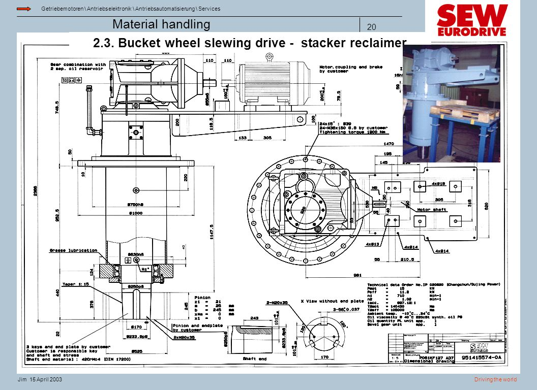 2.3. Bucket wheel slewing drive - stacker reclaimer