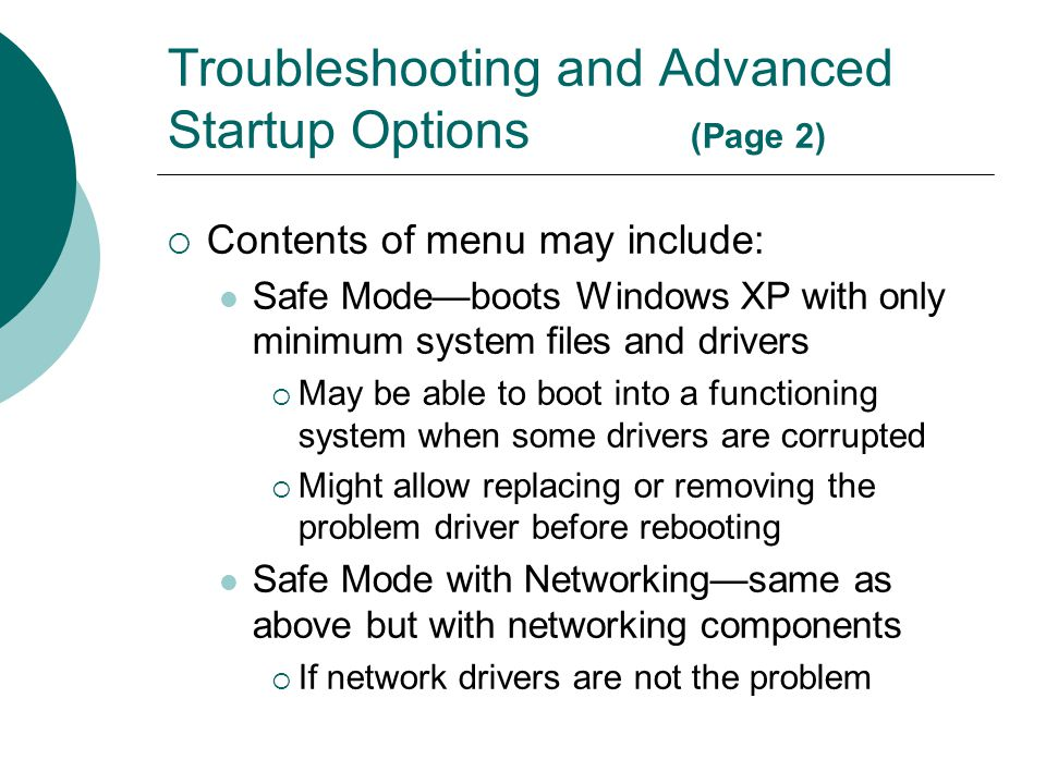 Troubleshooting and Advanced Startup Options (Page 2)